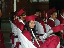 Anielka in graduation ceremony