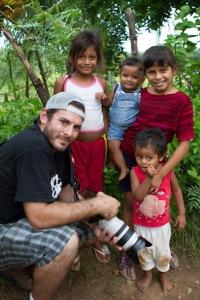 Michael Bonocore with EI kids